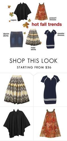 Hot Fall Trends! by alight-com on Polyvore   #alight #plussize #plussizefashion #black #orange #skirt #maxiskirt #capes #denim #denimskirts #sweaters #sweaterdress #dress #dresses #fall #trend #trendy #cute