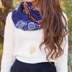 Myrtle Skull Infinity Scarf #Fall #Fashion #scarf #skull #ootd #ShopPriceless