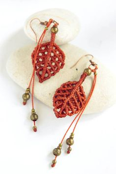 Hey, I found this really awesome Etsy listing at https://www.etsy.com/ru/listing/209212663/micro-macrame-earrings-autumn-leaves