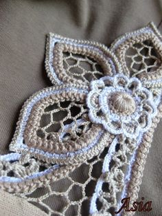 Mind. Exploding. #IrishLace #crochet Motifs I've never seen before. <3