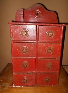 Awesome Early Old Antique u0027Pure Food Co.u0027 Six Drawer Spice Cabinet - 1800u0027s #HannahsHouseAntiques #Primitivu2026 | My Online Shop ~ Hannahu0027s House Antiques ... & Awesome Early Old Antique u0027Pure Food Co.u0027 Six Drawer Spice Cabinet ...