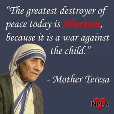 Mother Teresa is right. It's time for abortion to end! Mother Teresa Quotes, Life Is Precious, Life Is A Gift, Saint Quotes, Santa Teresa, Choose Life, Faith Prayer, Blessed Mother, Wisdom Quotes