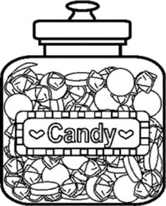 The Candy In Jar Coloring Pages