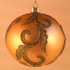 Amazon.com: Glass Ball Christmas Ornaments, Box of 4 Champaign Green: Home & Kitchen