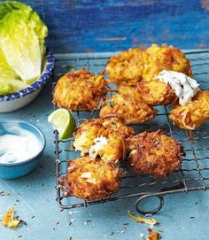 Carrot sweet-potato and feta fritters . Delicious Magazine .