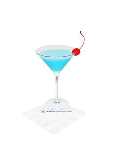 Big Game #Cocktail - Frostbite: In a shaker filled with ice, combine 1.5 oz. tequila, 1.0 oz. white crème de cacao, 1.0 oz. Blue Curacao and 1.0 oz. cream. Shake well and strain into a chilled martini glass. Garnish with a maraschino cherry.