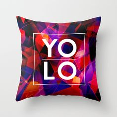"Dreams of YOLO Vol.2 Throw Pillow. Throw Pillow Cover made from 100% spun polyester poplin fabric, a stylish statement that will liven up any room. Individually cut and sewn by hand, the pillow cover measures 16"" x 16"", features a double-sided print and is finished with a concealed zipper for ease of care. Does not include pillow insert."