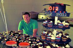 graduation cap cake, cupcakes, truffles