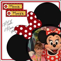 Minnie mouse layout
