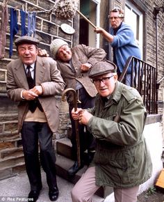 Last of the Summer Wine. Sunday night homework dodging excuse for 4 generations of school kids. 28 minutes of home spun Yorkshire whimsy leading up to the scruffy one landing in either a) the river or b) a pile of horse manure