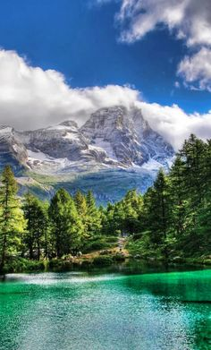 Blue Lake in Valle d'Aosta, Italy • photo: Federico (fede0253) on Flickr