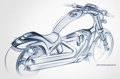 motorcycle/scooter sketches & renders on Behance
