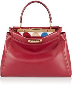 03cb11e54c52 Fendi Peekaboo medium leather tote on shopstyle.com Mode Femme,  Maroquinerie, Sac,