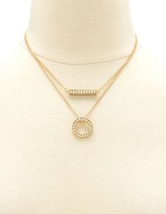 Layered Circle & Bar Necklace: Charlotte Russe