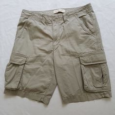 Sonoma Mens Size 34 Cargo Shorts Khaki Beige Textured Light Stripes NWOT #Sonoma #Cargo