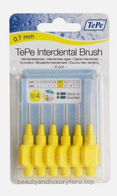 TePe Interdental Brush Original – Yellow 0.7mm BUY NOW     $5.53    The original range of TePe Interdental Brushes comprises nine color coded sizes. The user-friendly handle offers a stable an co ..  http://www.beautyandluxuryforu.top/2017/03/17/tepe-interdental-brush-original-yellow-0-7mm/