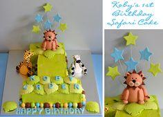 #1 Safari themed cake