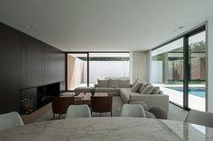 salon - HS Residence par Cubyc Architects - Bruges, Belgique