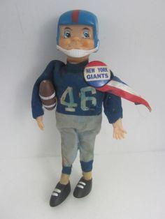 New York Giants 1967 Gund NFL Football Player Souvenir Doll & Orig VTG Button #Gund #NewYorkGiants