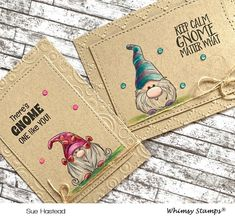 Cute Cards, Diy Cards, Craft Cards, Whimsy Stamps, Card Sketches, Creative Cards, Scrapbook Cards, Homemade Cards, Gnomes