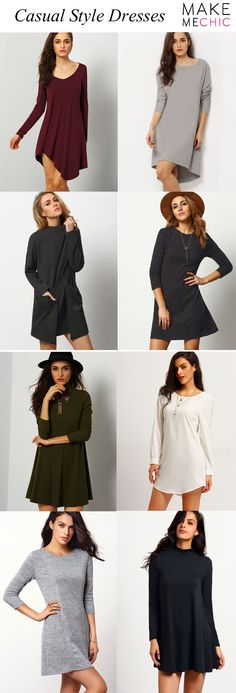 Every woman needs to have that comfy classic dress to give her comfort and casual style, and these casual dress can definitely deliver that.