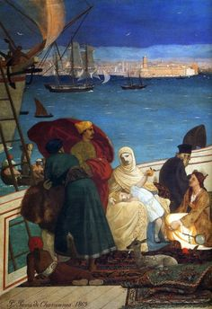 Pierre Puvis de Chavannes - Marseilles, Gate to the Orient (detail)   كل قلوب الناس جنسيتي