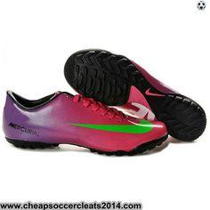 Nike Mercurial Vapor IX TF Cleats Purple Red Green Discount Cleats Mens  Soccer Cleats a77f97ea24aca