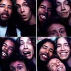 Looks like an old TRL photobooth pic w/ 3 of the guys in Incubus. Kilmore, Brandon and Mikey all looked so cute back in the day.