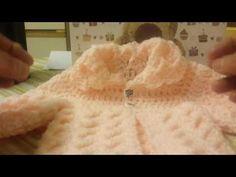 Casaco de bebe 0.3 meses em croche.1 parte - YouTube