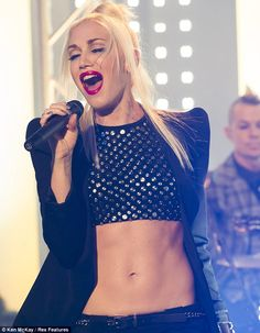 Gwen Stefani performs with No Doubt on ITV's This Morning.