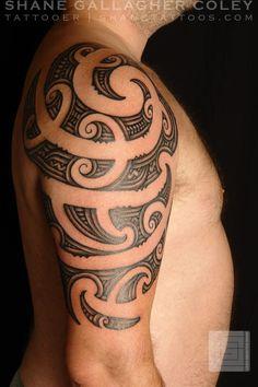 Check which tattoo suits you best. New Tattoos, Tribal Tattoos, Polynesian Tattoos, Ta Moko Tattoo, Tattoo Maori, Shane Tattoo, Shoulder Tattoos, Half Sleeves, Tattoo Drawings