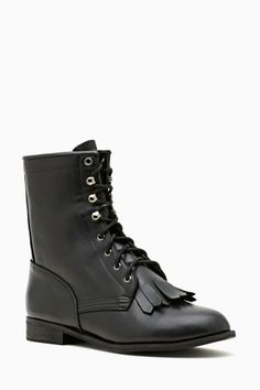 Black boots are rad!!!! Nasty Gal provides--