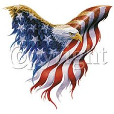 American Flag  Eagle Tattoos on Wear This Eagle Shaped American Flag T Shirt Design With Pride
