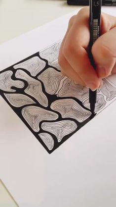 31 Ideas for doodle art ideas draw zentangle patterns Easy Doodle Art, Doodle Art Drawing, Cool Art Drawings, Zentangle Drawings, Art Drawings Sketches, Drawing With Pen, Zentangle Art Ideas, Fish Zentangle, Easy Zentangle Patterns