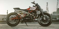Indian's Scout-powered factory custom flat track racer is awesome and can now be yours in the 2018 Indian FTR1200 Custom.