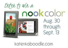 Send your Student Back to School With a Nook Color {G!ve Away}