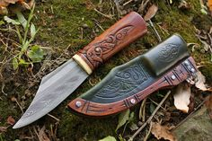 Cáfwíse - the Sharp Sproutling  A small Anglo Saxon forest seax I finished a few weeks ago for a client.  Inspired and modeled after original seax blade artifacts that I was able to handle and study in person while visiting the Leeds Royal Armouries private collection.  The ornamentation is highly inspired by early Illuminated manuscripts, with modern/mythological embellishment added.  If you'd like to own future blades similar to this then please consider signing up for my mailing list at…