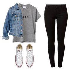 """"""""""" by sophiaaajeannn ❤ liked on Polyvore featuring H&M, Dorothy Perkins and Converse"""