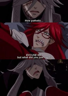 Black Butler ~~ Fighting over being with Will, perhaps? :: Grell VS The Undertaker