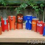 Toliet paper roll animals