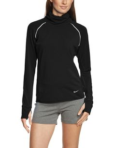 Nike Women's Dri-FIT Sprint Fleece Pullover Running Top, Black, Small. Reflective elements for enhanced visibility in low light. Back neck tape with for durability. Raglan sleeves for excellent range of motion. Dropped hem for coverage. On the backright hip a zippered pocket offers secure storage for your keys ID and other essential items.