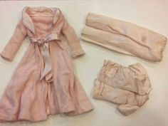 Vintage Barbie 1642 SLUMBER PARTY robe & pajama Outfit 3 piece lot set  | eBay