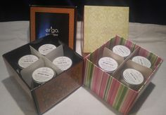 16- 1oz. Tin Cans of Ergo Soy Candles Ginger Twist & Basil Lime #Ergo