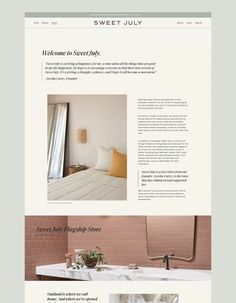 Sweet July – Saturday Studio Web Design Examples, Simple Web Design, Homepage Design, Website Home Page, Website Layout, Custom Website, Website Design Inspiration, Studio, Furniture