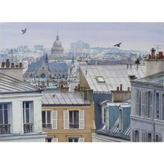 Les toits de Paris après la pluie ❤ liked on Polyvore featuring backgrounds