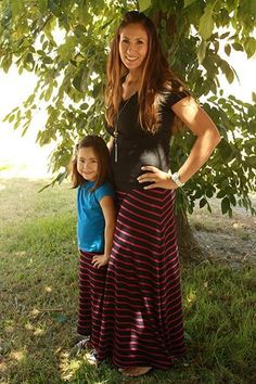 Are you looking for a free Maxi skirt pattern that you don't have to do the math or pattern draft in order to sew the skirt. Well here it is...
