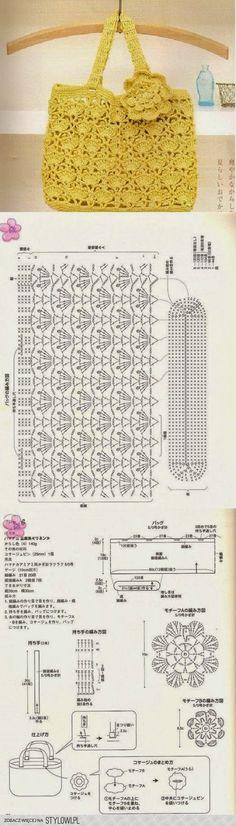 Horgolás minden mennyiségben!!!: Horgolt táskák mintával