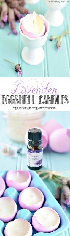 Lavender Eggshell Candles