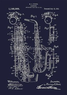 """Saxophone"" by blurryfromspace 