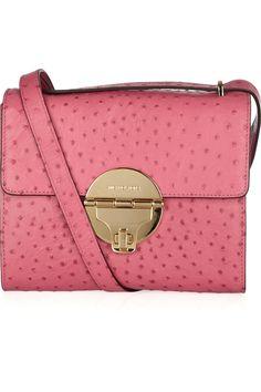 ShopStyle  MICHAEL Michael Kors Margo ostrich-effect leather shoulder bag 80438bc716
